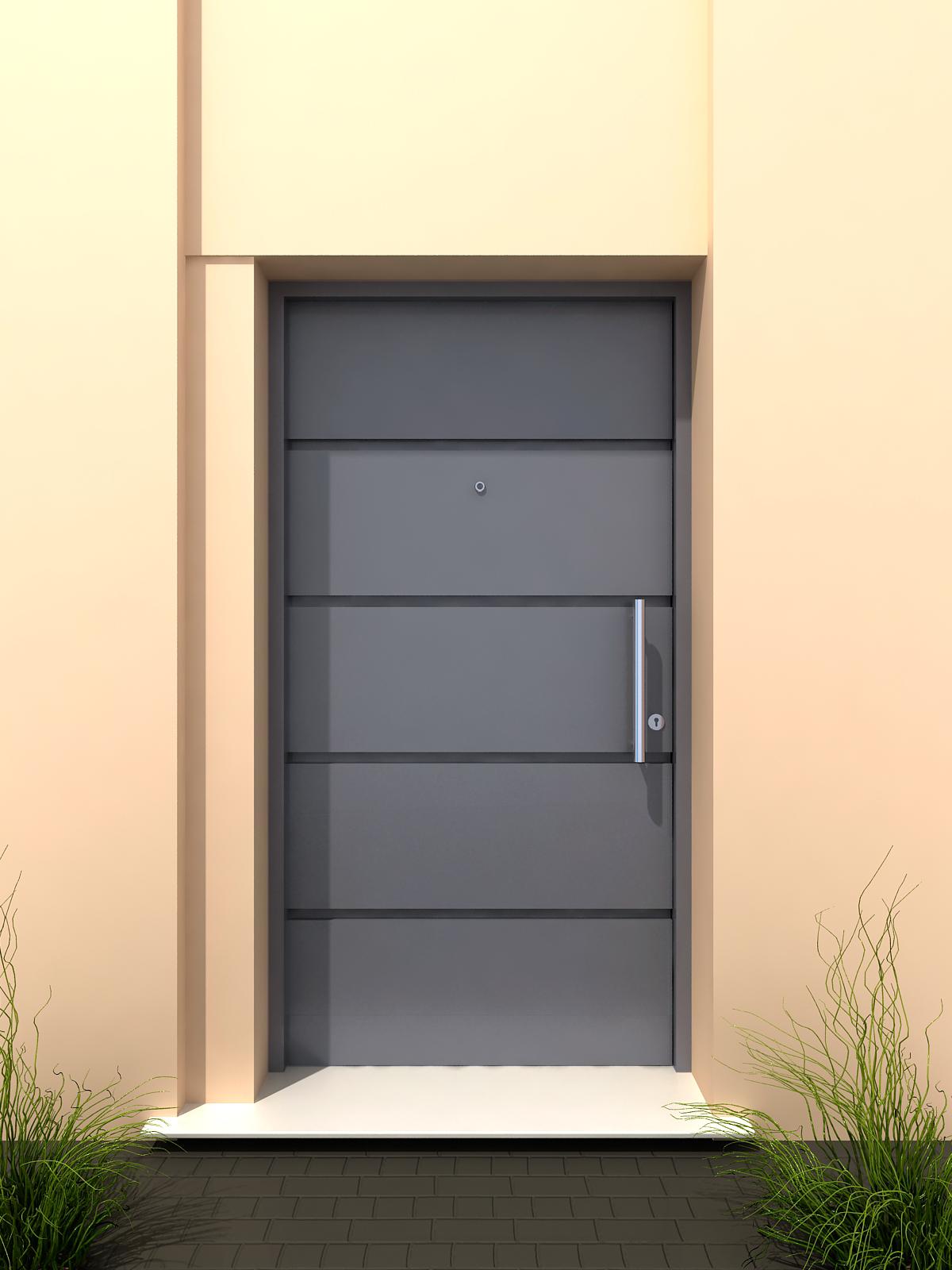 Aberturas mitre puertas de exterior chapa metalicas for Puertas metalicas modernas para exterior