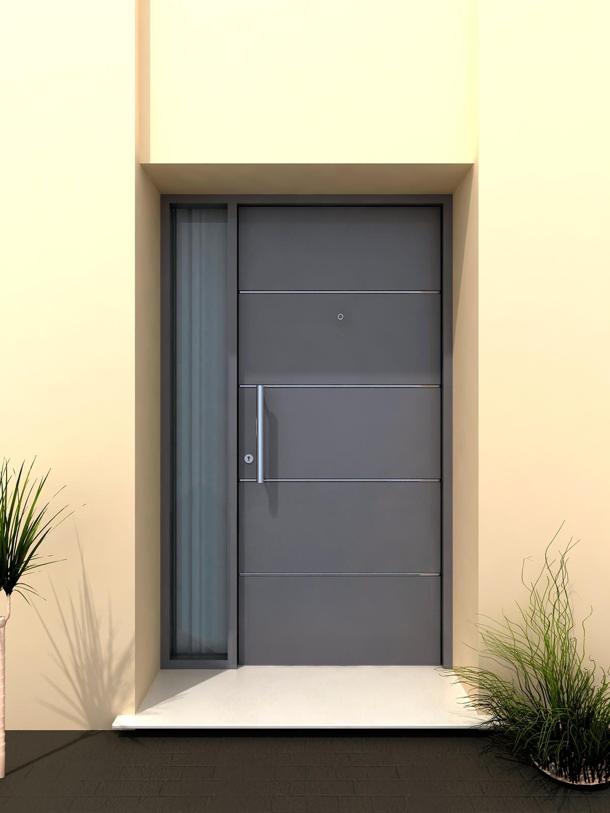 Puertas de entrada metalicas ideas de disenos for Puertas metalicas