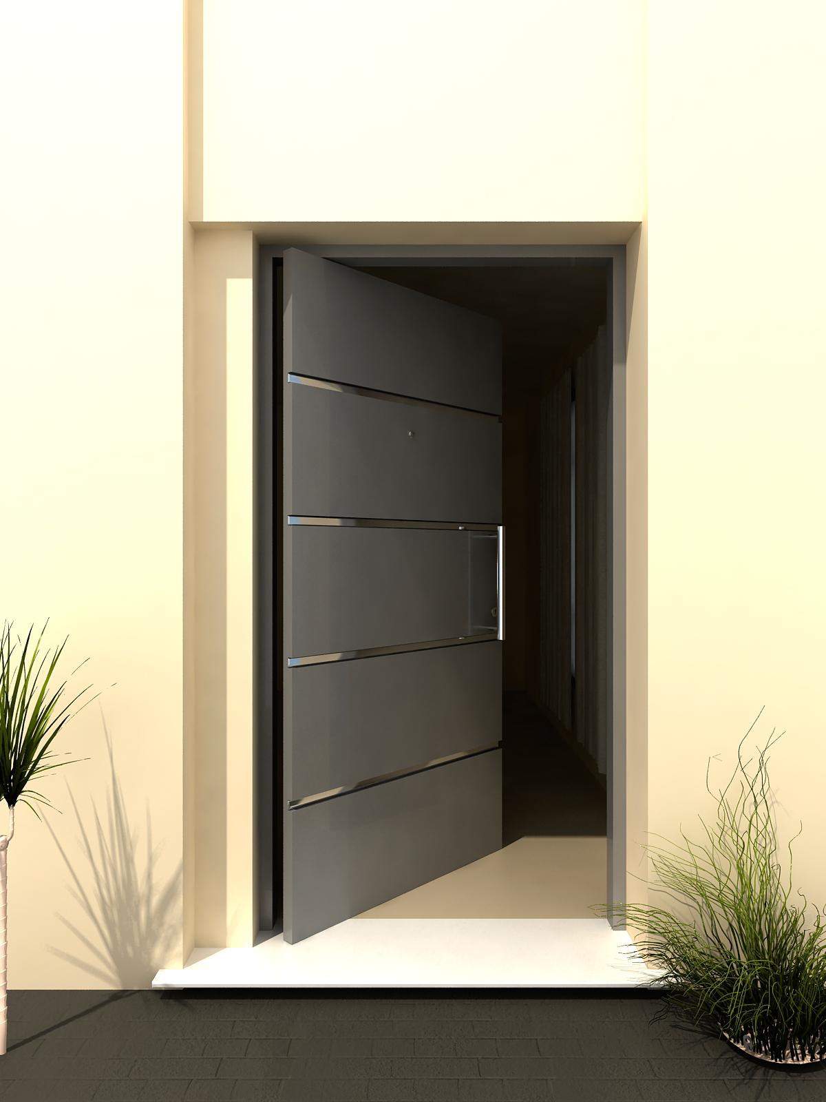 Puertas metalicas de exterior materiales de construcci n for Puertas metalicas