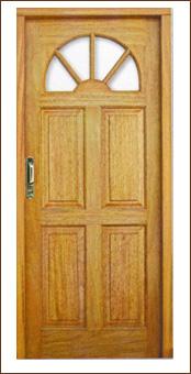 puertas en madera maciza nacionales o importadas