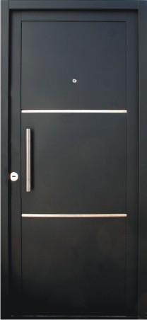 Puertas exterior metalicas puerta de entrada barmetal - Puerta metalica exterior ...