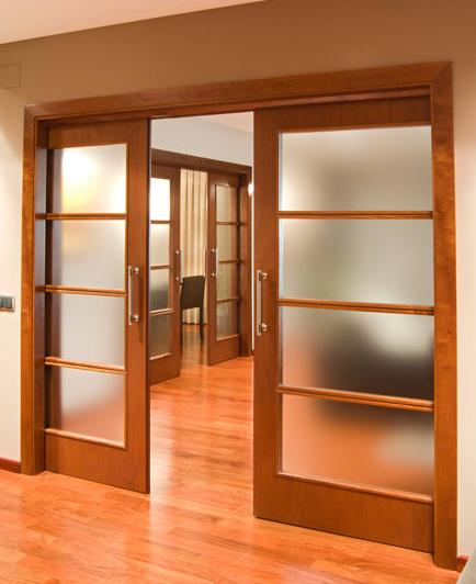 Aberturas mitre puertas de interior vidriadas for Puertas interiores de madera con vidrio