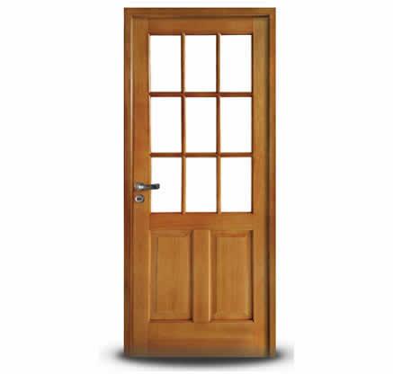 Aberturas mitre puertas de interior vidriadas - Puertas de madera con cristal ...